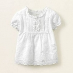Блузка - Красивая хлопковая блузка на 18 мес. Белая