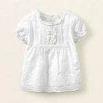 Блузка - Красивая хлопковая блузка на 24 мес. Белая