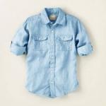 Рубашка - Рубашка на 10/12 лет. Хлопок. Цвет - голубой